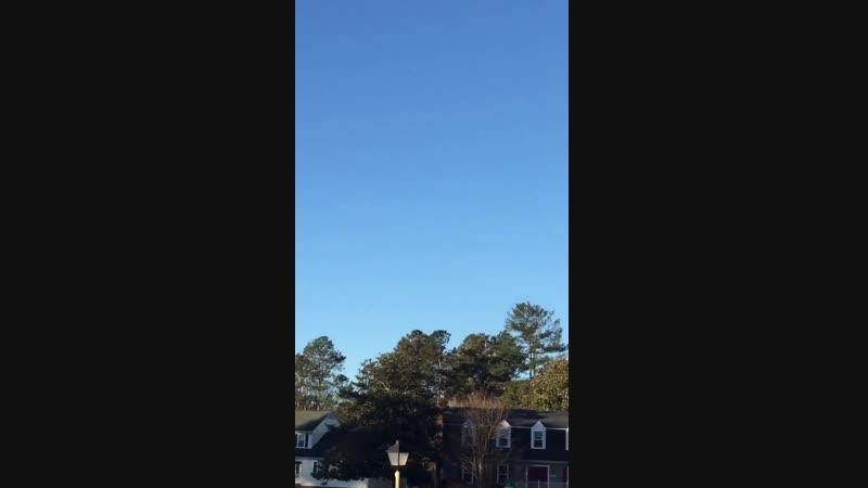 ..видео 22 января над домом Hassan Saheed Bilal, часто наблюдает объекты, в Ричмонд Virginia ..