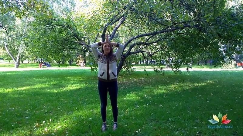 Упражнения йоги для КРАСИВОЙ ФОРМЫ ГРУДИ Йогатерапия с Татьяной Дудиной