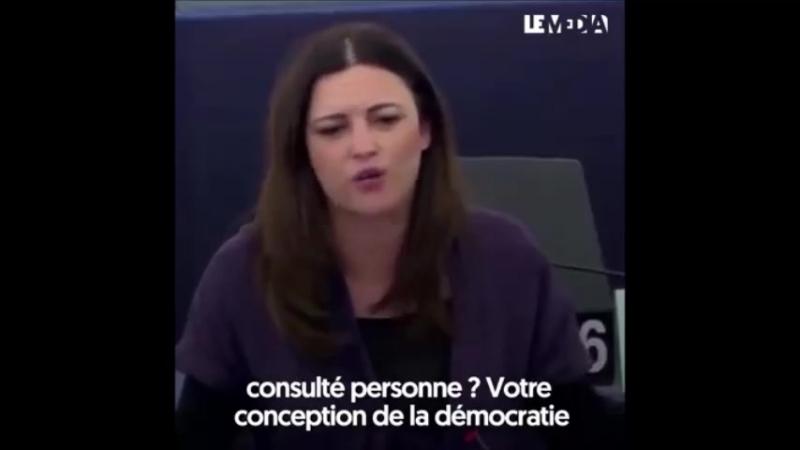 VOTRE CONCEPTION DE LA DÉMOCRATIE EST NAPOLÉONIENNE Marisa Matias, Eurodéputée du bloc de gauche portugais a interpellé Emmanu