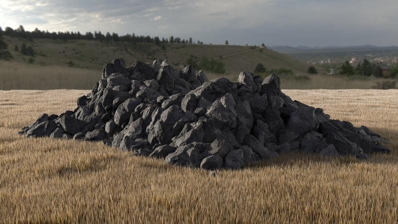 Rock Pile Tutorial: MASH instancing