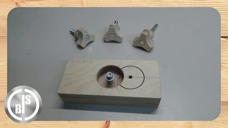 How to Make a wooden Star Knob Jig / Vorrichtung für Sterngriffe selber machen