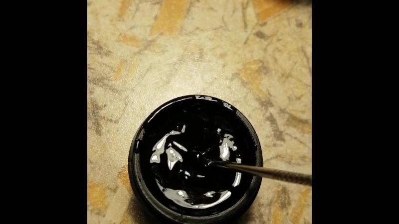 Черная гель краска без липкого слоя