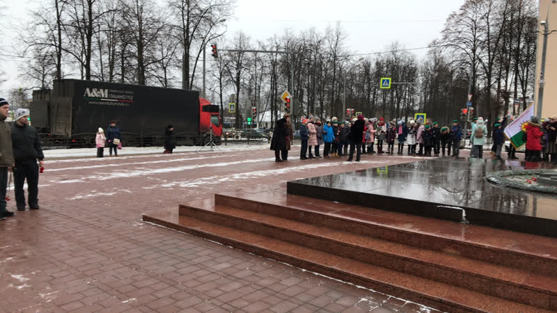 Митинг посвящённый 77 годовщине освобождения Клина от немецко-фашистских захватчиков