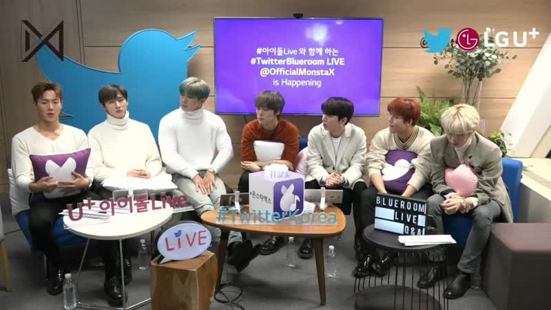 [VK][181216] MONSTA X Twitter Blueroom LIVE QA @ Idol Live