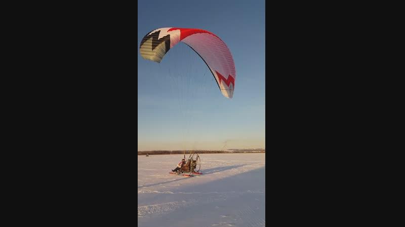 Паралет зимние полеты