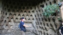Mysterious Pigeon Holes at the Cliff, Corviano, Italy - newearth crew