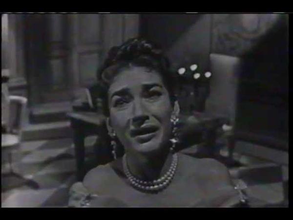 MARIA CALLAS sings Vissi D'arte on November 25, 1956