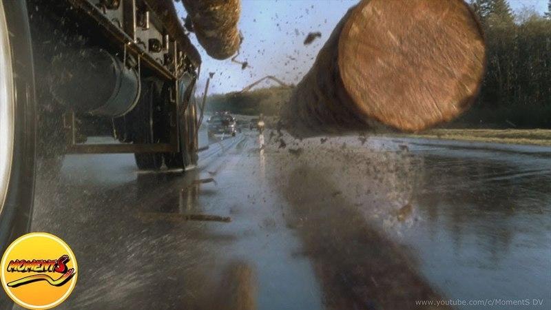 Яркая автокатастрофа с лесовозом. «Пункт назначения 2» 2003 год
