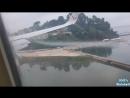 CHEMTRAILS sprayed on ARRIVAL - Chemtrails beim landen versprüht