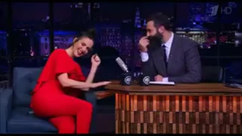 😂😂😂 Её заразительный смех 👍 NataliaOreiro UnforgettableTour2019 Москва ⚡💙 Эфир программы Вечерний Ургант с Наталией в гостях