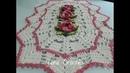 Tapete com Flor Roseta em Crochê para destro