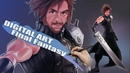 DIGITAL ART Portrait  Game Final Fantasy