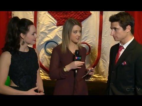 Tessa Virtue Scott Moir Interview for CTV News Saskatoon
