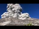 Извержение вулкана Мерапи Индонезия 11 мая 2018 года