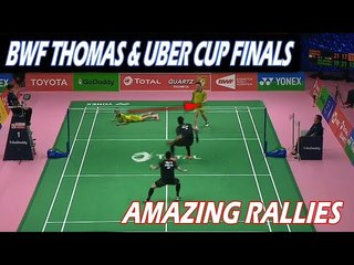 2018 THOMAS & UBER CUP Great Rally Compilation