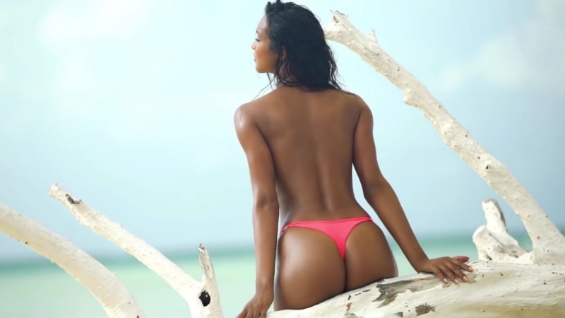 Lais Ribeiro Wears Nothing But Bikini Bottoms | Sports Illustrated Swimsuit