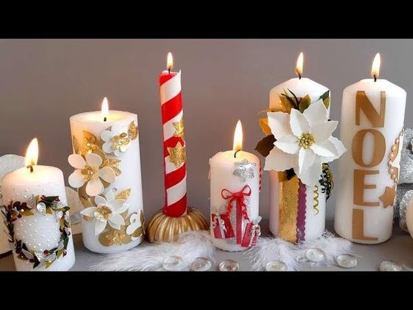 DIY NOËL Décorer des bougies