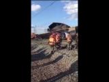 Столкновение поездов в Новосибирской области