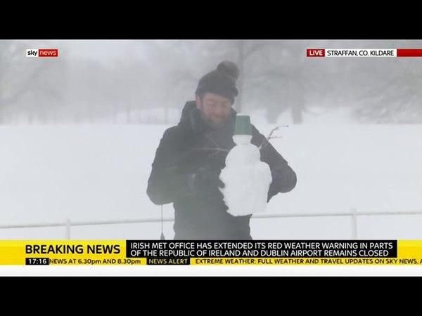 Sky News' Darren McCaffrey builds Snowman