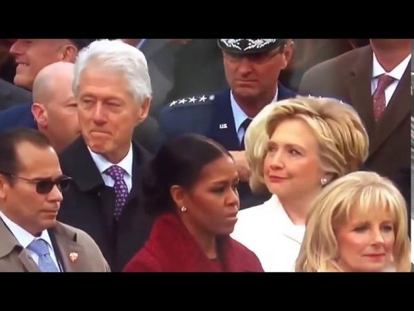 WOW! Hillary Clinton Catches Bill Clinton Staring At Ivanka Trump ASS At Inauguration 12016