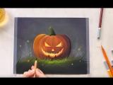 Как нарисовать тыкву пастельными карандашами