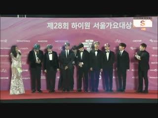 190115 bts @ 28th seoul music awards red carpet