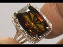 Estate FLAWLESS Natural Parti-Colored Tourmaline Diamond 14k Yellow Gold Ring - C109