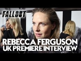 Rebecca Ferguson Exclusive Interview At The UK Premiere Of Mission Impossible Fallout In London
