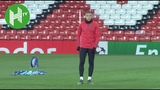 Kylian Mbappe and PSG train at Old Trafford ahead of United clash