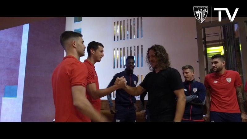 Puyol Athleticeko jokalariekin elkartu da Reunión de Puyol y los jugadores del Athletic