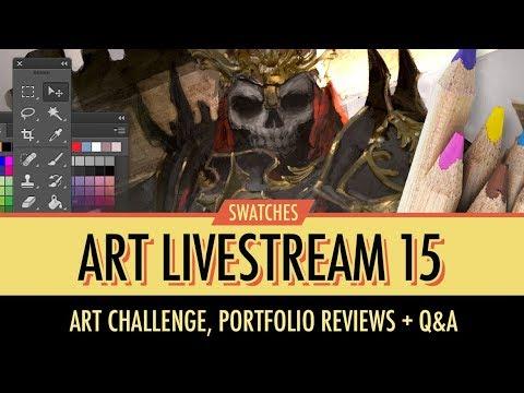 Livestream No. 15 - Portfolio reviews, Paintovers QA