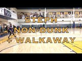 Steph Curry non-dunk after routine + walkaway shot from practice in Oakland, 2 days b4 2018 WCF G3