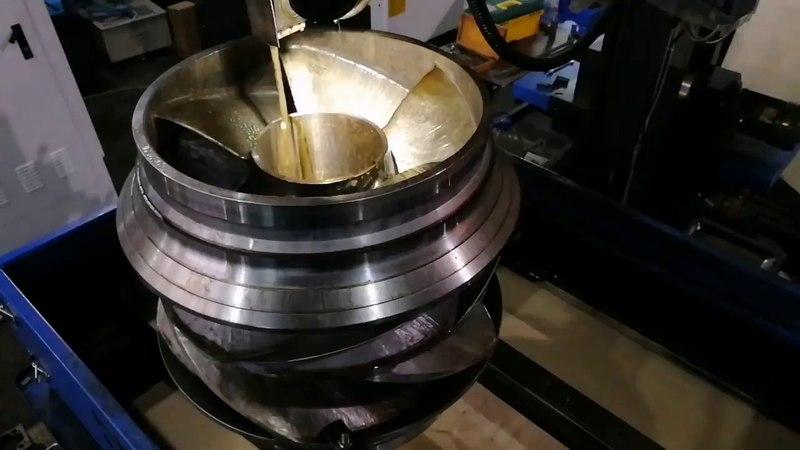 Паз 500 мм в колесе нефтяного насоса на станке DK7780 Доминик Челябинск
