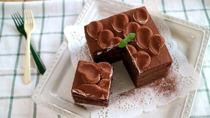 Chocolate ganache cake ふわふわ生地とガナッシュのちょこけーき♪