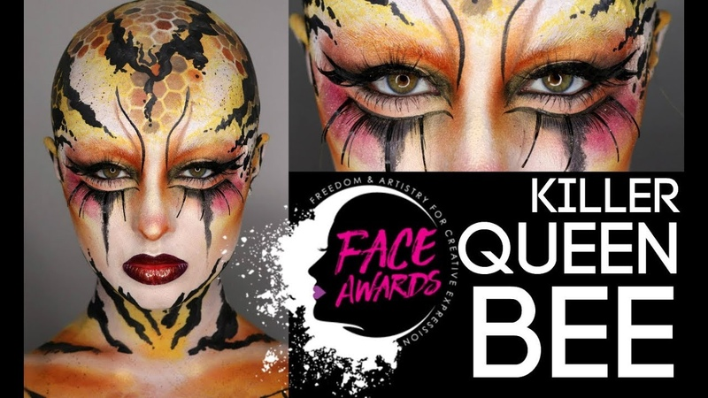Killer Queen Bee NYX Face Awards Entry US 2018 Makeup Madhouse