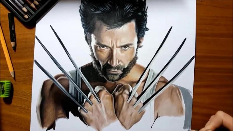 Speed Drawing- Hugh Jackman as Wolverine - Jasmina Susak