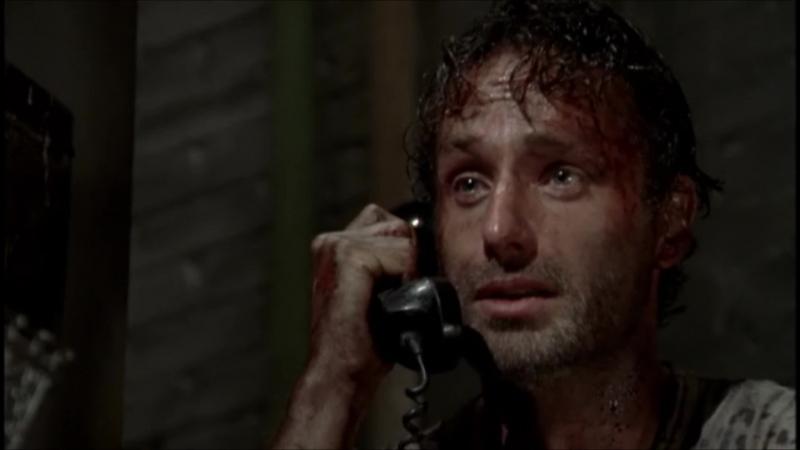 Рик пытается дозвониться по Нигана по межгороду Rick Grimes The Walking Dead
