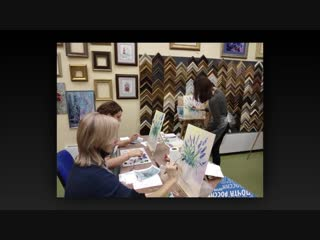 Творческий процесс на мастер-классах по живописи