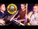 NOVEMBER RAIN - Piano, Bass, Drums; Cover by Avery Drummer Molek (11 years old)