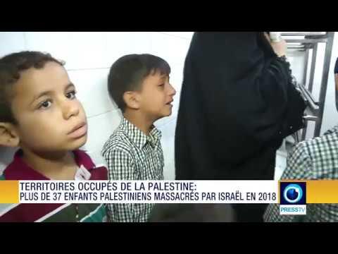 Plus de 37 enfants palestiniens massacrés par Israël en 2018