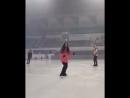 Публикация из Instagram - аккаунта Жени Instagram Stories Евгении Шоу «Ice Fantasia» Сеул, Корея 18.04.18