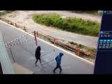 Утащили велосипедницу. Северодвинск