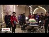 Салаху на день рождения в Чечне подарили 100-килограммовый торт