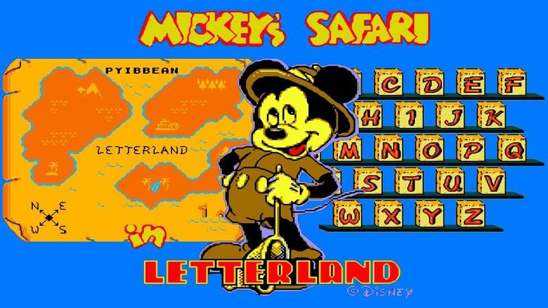Mickeys Safari in Letterland walktrough (NESDendy) 60fps