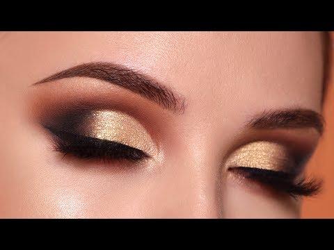 Glam Gold Smokey Eye Makeup Tutorial Morphe 35O2 Palette
