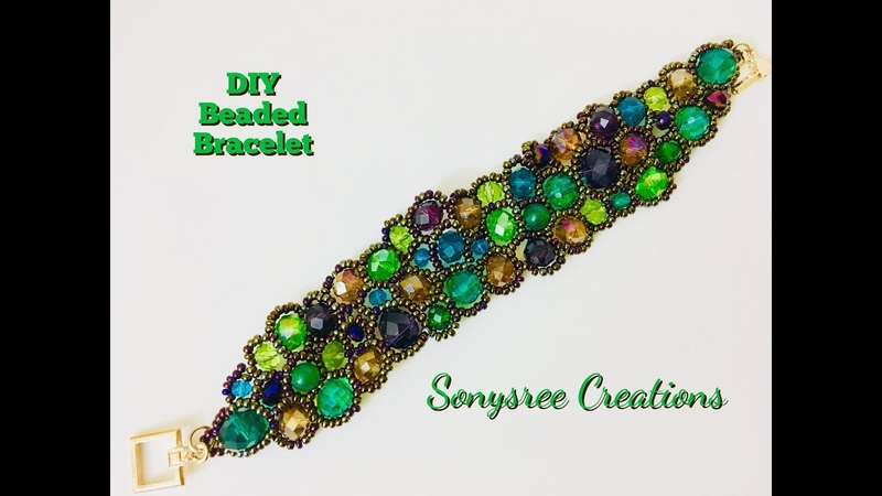 DIY Asymmetric Freeform Beaded Bracelet 💞