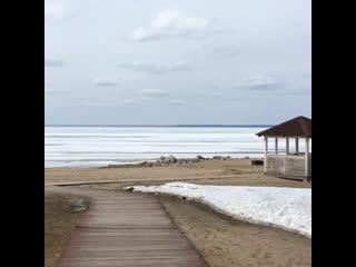 Обское море. Апрель 2019
