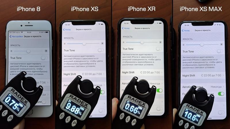 Проверяем ШИМ на AMOLEDOLED экранах iPhone XS (Max), Galaxy Note 9 и Mate 20 Pro