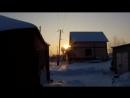 Ранок в селі взимку під Рязанью