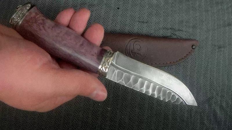 Нож Золотоискатель дамасская сталь долы